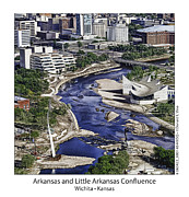 Fb Posters - Arkansas and Little Arkansas Confluence Poster by Don Vine