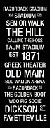 Bud Walton Arena Prints - Arkansas College Town Wall Art Print by Replay Photos