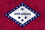 U S Flag Digital Art Prints - Arkansas Flag Print by World Art Prints And Designs
