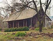 Old Cabins Prints - Arkansas Homestead Print by Marilyn Mock Peterson