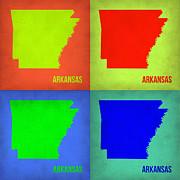 Arkansas Pop Art Map 1 Print by Irina  March