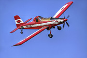 Woo Pig Sooie Prints - Arkansas Razorbacks Air Tractor Print by Jason Politte