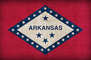 Arkansas State Flag Print by Pixel Chimp