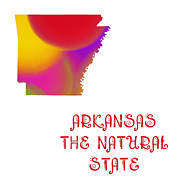 Arkansas Digital Art - Arkansas State Map Collection 2 by Andee Photography
