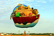 Noah Prints - ARKY Hot Air Balloon Print by Kathy  White
