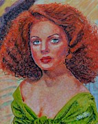 Movies Painting Originals - Arleen Whelan by Shirl Theis
