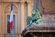 Arles Metal Prints - Arles Place de la Republique Metal Print by Brian Jannsen
