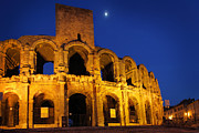 Arles Metal Prints - Arles Roman Arena Metal Print by Inge Johnsson
