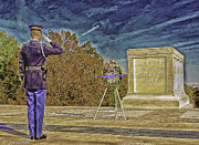Bravery Digital Art Posters - Arlington Cemetery Tomb of The Unknowns Poster by Nadine and Bob Johnston