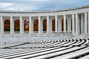 National Historic District Posters - Arlington Memorial Cemetery Amphitheater  Poster by Susan Candelario