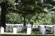 Grave Photo Metal Prints - Arlington National Cemetery - 121246 Metal Print by DC Photographer