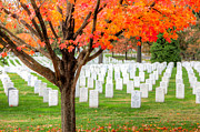 Hallowed Prints - Arlington National Cemetery in Autumn III Print by Clarence Holmes