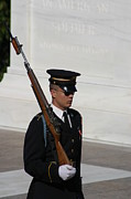 Soldiers Prints - Arlington National Cemetery - Tomb of the Unknown Soldier - 121216 Print by DC Photographer