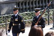 Arlington Metal Prints - Arlington National Cemetery - Tomb of the Unknown Soldier - 121223 Metal Print by DC Photographer