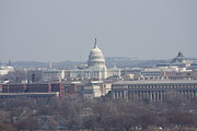Tombstones Posters - Arlington National Cemetery - View From Arlington House - 12124 Poster by DC Photographer