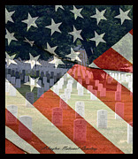 Flag Stones Posters - Arlington National Cemetey Poster by David Lester
