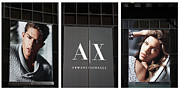 Male Model Posters - Armani Tryptych Poster by David Bearden