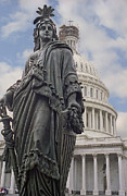 U.s. Capitol Dome Posters - ARMED STATUE of FREEDOM - UNITED STATES of AMERICA Poster by Daniel Hagerman