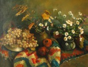 Grapes Posters - Armenian still-life Poster by Tigran Ghulyan