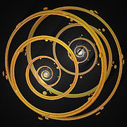 Fractal Geometry Digital Art Originals - Armillary by jammer by First Star Art