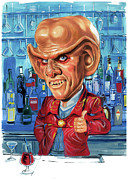 Exaggerart Painting Metal Prints - Armin Shimerman as Quark Metal Print by Art