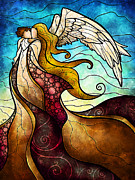 Spiritual Woman Prints - Arms of the Angel Print by Mandie Manzano
