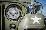 Olive Drab Prints - Army Jeep Print by Bradley Clay