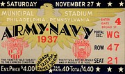 Ncaa Prints - Army Navy 1937 Print by Benjamin Yeager