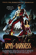 Horror Movies Digital Art Framed Prints - Army of Darkness Poster Framed Print by Sanely Great
