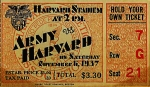 College Football Digital Art Posters - Army vs Harvard 1937 Ticket Stub Poster by Digital Reproductions