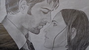 Iss Originals - Arnav And Kushi Pencil Sketch by Anu Swarna