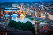 Tuscan Dusk Photos - Arno by Inge Johnsson