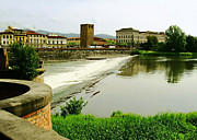 Arno River Prints - Arno River 1 Print by Ellen Henneke