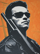 Politician Metal Prints - Arnold Schwarzenegger 2013 Metal Print by Luis Ludzska