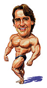 Caricatures Paintings - Arnold Schwarzenegger by Art