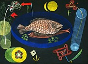 Symbols Paintings - Around The Fish by Pg Reproductions