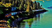 Burlington Northern Prints - Around The Lake Print by Benjamin Yeager