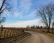 Winter Scenes Rural Scenes Prints - Around the the Curve 2 Print by Rick Grisolano Photography LLC