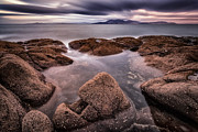 Scotland Fineart Framed Prints - Arran at Sunset Framed Print by John Farnan