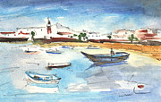 Fishermen Drawings - Arrecife in Lanzarote 04 by Miki De Goodaboom