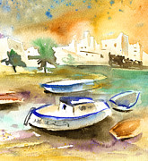 Lanzarote Paintings - Arrecife in Lanzarote 13 by Miki De Goodaboom