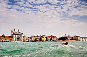 Tourist Destination Framed Prints - Arriving in Venice by Boat Framed Print by Susan  Schmitz