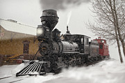 Colorado Railroad Museum Prints - Arriving Print by Ken Smith