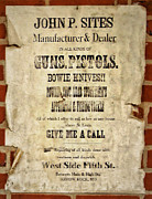 Gunsmith Posters - Arrow Rock - Gunsmith Sign Poster by Cricket Hackmann