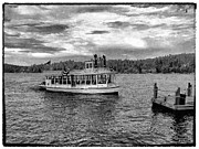 Mountains And Lake Posters - Arrowhead Queen Paddlewheel Boat Poster by Glenn McCarthy Art and Photography