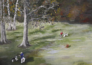 Owner Painting Framed Prints - Arroyo Verde Dog Park Framed Print by Parshall Terry
