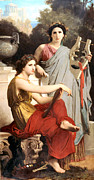 Art And Literature Print by William Bouguereau