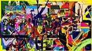 Art And Writing 6 Print by David Baruch Wolk