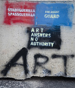 Tagging Posters - Art Answers No Authority Poster by Terry Rowe