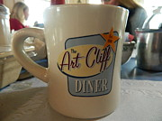 Vineyard Art Originals - Art Cliff Diner Mug by Kathy Barney